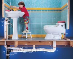 Прочищаем канализационную трубу