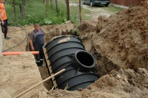 Установка канализационной емкости