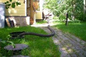 Неудобства откачки канализации