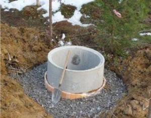 Самый недорогой вариант устройства из бетонных колец