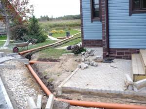 Установка дождевой канализации