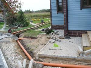 Установка ливневой канализации на участке
