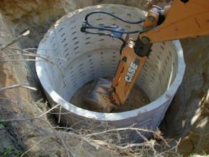 Сооружение из бетонных колец