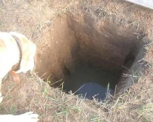 Готовая яма для канализации