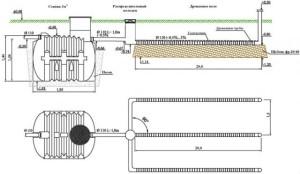Схема установки канализационной системы
