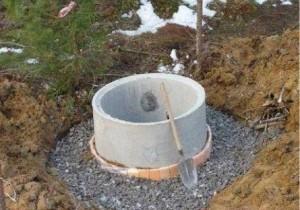Монолитный бетонный колодец