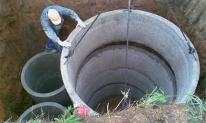 Установка бетонных колец профессионалами
