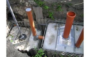 Установка канализационного устройства