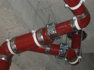 Трубы смонтированы безраструбным способом