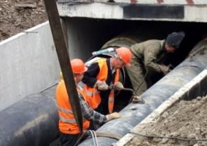 Работы на канализационном коллекторе