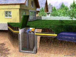 Размещения канализационной трубы