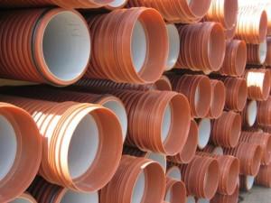 Трубы на складе