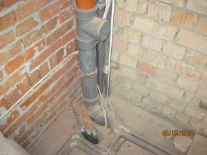 Разводка труб под канализацию