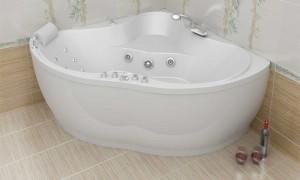 Угловая ванна- малогабаритный вариант для небольших ванных комнат