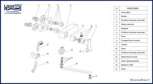Комплект деталей, которые используются при установке смесителя