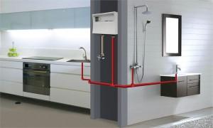 Небольшие размеры - одна из особенностей проточного водонагревателя