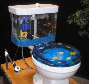 Унитаз-аквариум