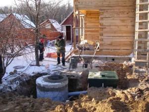 Устройство канализации и строительство очистных сооружений на даче